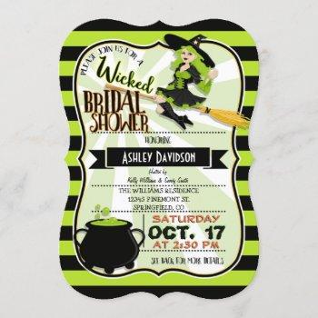 halloween witch theme bridal shower invitation