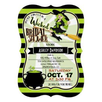 halloween witch theme bridal shower invitation