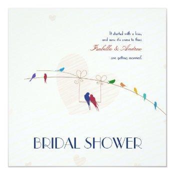 happy love bridal shower invitation