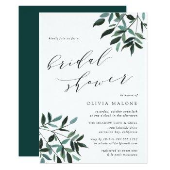 harvest sage bridal shower invitation