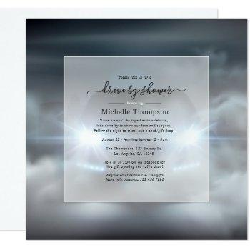 heavenly drive by shower invitation