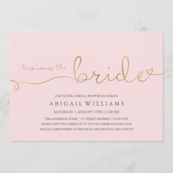 here comes the bride dk -shower invitation