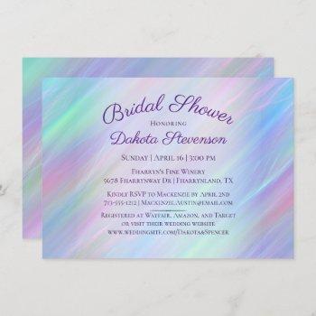 holographic whimsy | pastel rainbow bridal shower invitation