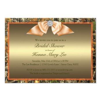 hunting camo bridal shower invitation