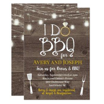 i do bbq couple's barbecue shower invitation