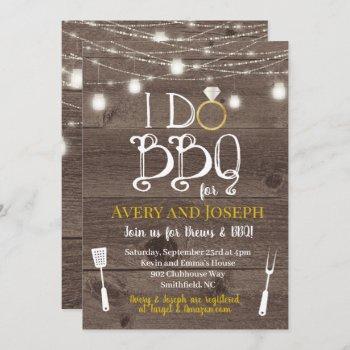 i do bbq couple's barbecue shower invitation