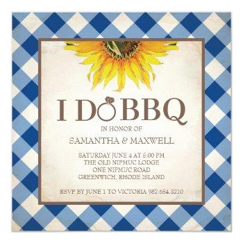 i do bbq couples shower invitation