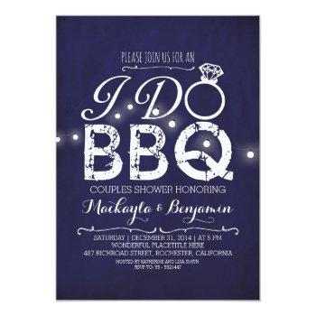i do bbq couples shower invitation navy