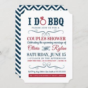 i do bbq - poster style couples wedding shower invitation