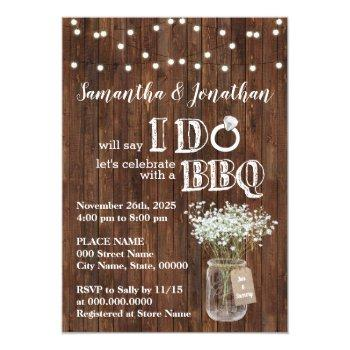 i do bbq wedding shower baby's breath rustic invitation