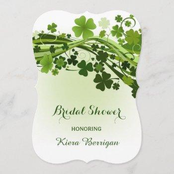 irish shamrock bridal shower invitation