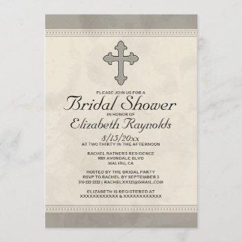 iron cross bridal shower invitations