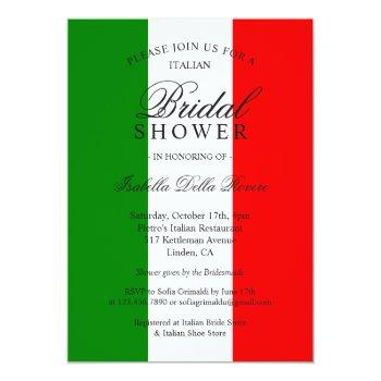italy italian bridal shower invitation