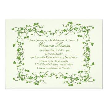 ivy frame bridal shower invitation