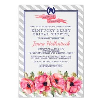 kentucky derby shower invitation