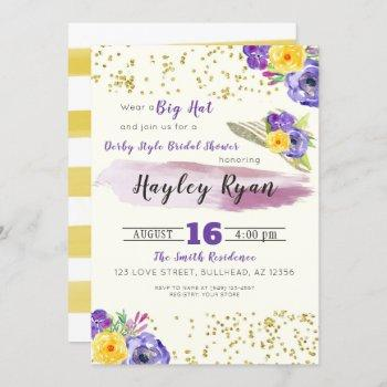 kentucky derby style bridal shower invitation