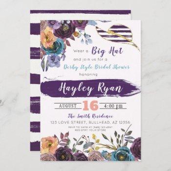 kentucky derby style fall bridal shower invitation