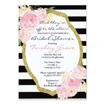 kentucky derby theme shower invitation