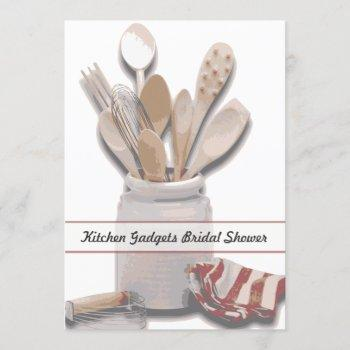 kitchen themed bridal shower custom invitation
