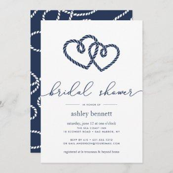 knotted hearts bridal shower invitation