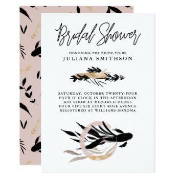 koi sakana bridal shower invitation