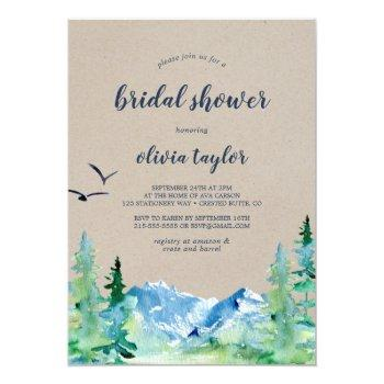 kraft rocky mountain bridal shower invitation
