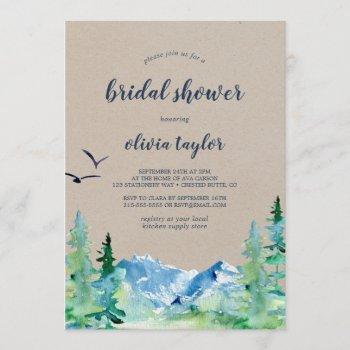 kraft rocky mountain bridal shower invitation