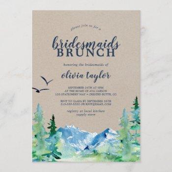 kraft rocky mountain bridesmaids brunch invitation