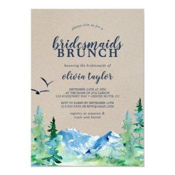 kraft rocky mountain bridesmaids brunch invitation