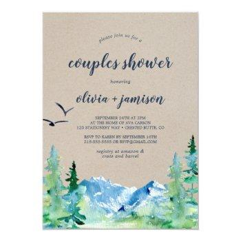 kraft rocky mountain couples shower invitation