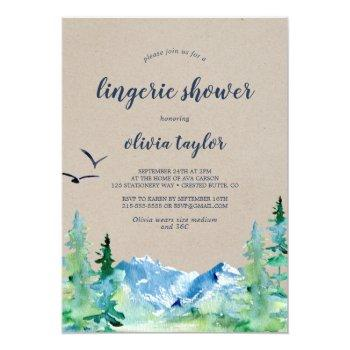 kraft rocky mountain lingerie shower invitation
