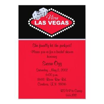 las vegas bridal shower invitation