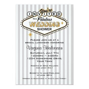 las vegas wedding shower invitation