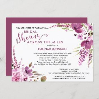 lavender and lilacs floral bridal shower by mail invitation