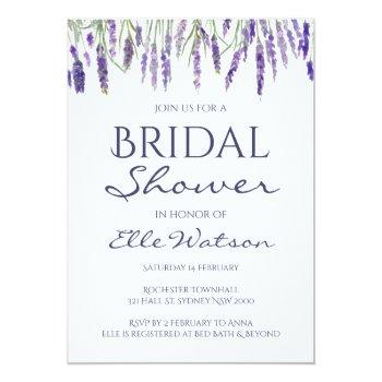 lavender bridal shower invitation, wedding invitation