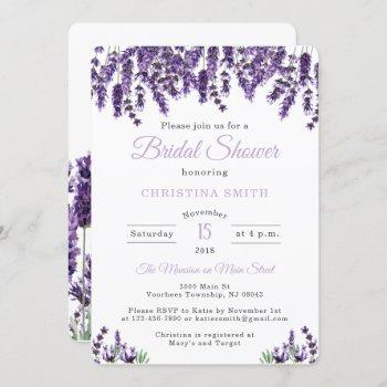 lavender bridal shower invitations