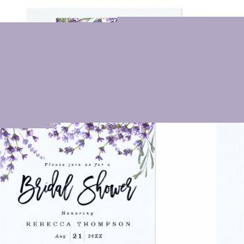 lavender florals boho modern bridal shower invitation
