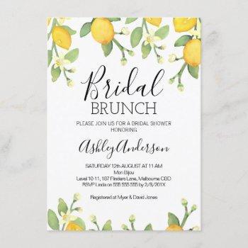 lemon bridal brunch bridal shower invitation