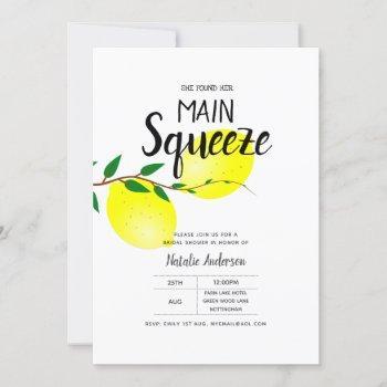 lemon bridal shower found her main squeeze invites