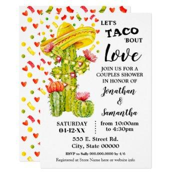 let's taco 'bout love fiesta couples shower invitation
