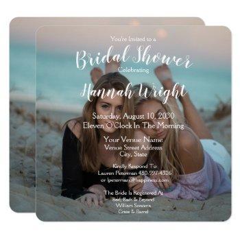 lgbtq photo wedding bridal shower invitation
