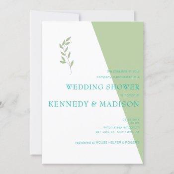 lime geometric magnificent minimalist wedding invitation