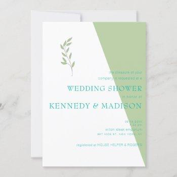 lime green geometric non-binary minimalist wedding invitation