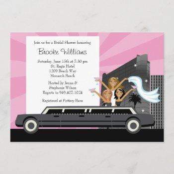 limo bridal shower invitation african american
