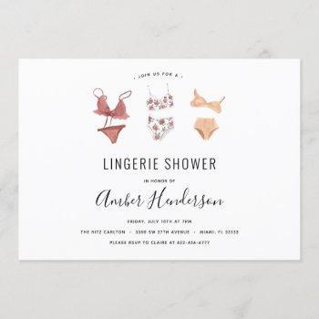 lingerie shower invitation