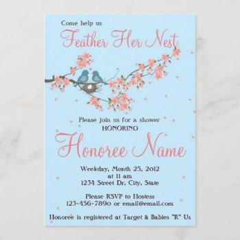 little love birds shower invitation