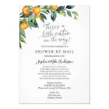 long distance baby shower by mail invitation
