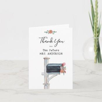 long distance bridal shower thank you card