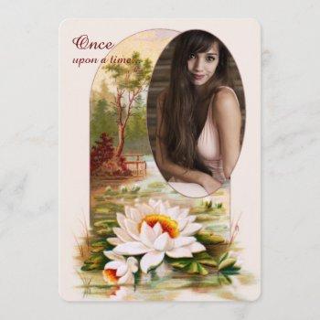 lotus garden photo invitation