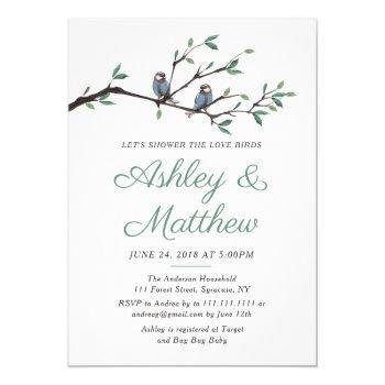 love birds bridal shower invitation